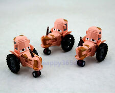 3X Disney Pixar 1:55 Diecast Metal Heifer Tipping Tractor 1:55 Car Toy