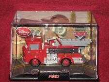 DISNEY STORE Red the Fire Engine in Collectors Case Pixar CARS. BRAND NEW.