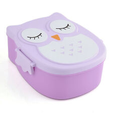 Best Kids Food Contain Bento Box Owl Plastic Cute Cartoon Lunch Box Oven Heating