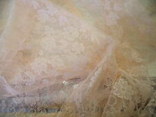 LEGGERO FLOREALE IN PIZZO IN NYLON-peach-dress / BRIDAL fabric-free P&P