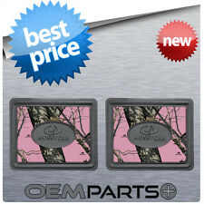 2X PINK MOSSY OAK REAR FLOOR MATS CAMOUFLAGE CAMO TRUCK SUV CAR PAIR SET GIRL