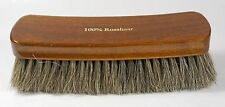 XXL shoe polish brush for high shine - 100 % brown horse hair - Made in Germany