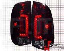 97-03 FORD F150 F250 F350 F450 RED/SMOKE LENS LED TAIL LIGHTS BRAKE SIGNAL LAMPS