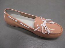 NWOB COLE HAAN Women Patent Leather Beige Loafers Boat Shoes sz 7 B/M
