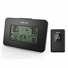 Digital LCD Weather Station Alarm Clock Outdoor Humidity Temperature Backlight