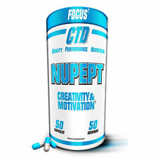 CTD NUPEPT Stress Relief Mood Elevation NOOTROPIC BRAIN PILL Noopept FOCUS 50 ct