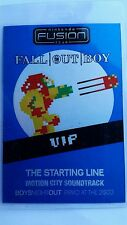 Fall Out Boy VIP Pass  2005  Nintendo Fusion Tour