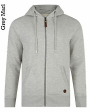 Smith & Jones New Men's Full Zip Hooded Sweatshirt Plain Fleece Hoodie Slim Fit