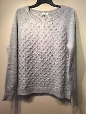 Gap Honeycomb cable knit sweater, Grey Heather SIZE ST S T    #465380