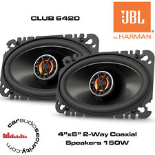 "JBL CLUB 6420 - 4""x6"" 2-Way Coaxial Car Speakers 150 Watts Total Power"