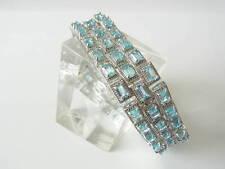 Original Harry Ivens Armband 925er Silber mit Blautopas NEU