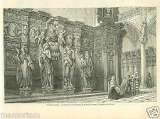 St. Paul's Church Eglise Saint-Paul Anvers Antwerpen Antwerp GRAVURE PRINT 1863