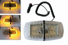 24 LED Amber Strobe Light Emergency Flashing Bar Magnetic Hazard Beacon 24V 1362