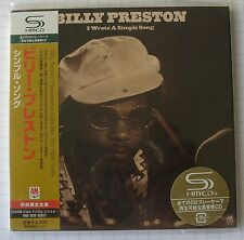 BILLY PRESTON - I Wrote A Simple Song JAPAN SHM MINI LP CD NEU UICY-93455
