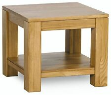 Cotswold solid oak furniture lamp side end table