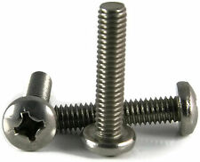 Stainless Steel Phillips Pan Head Machine Screw #6-32 x 2-1/4, Qty 100