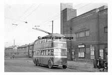 pt8958 - Doncaster Trollybus no 345 by Astra Cinema in 1955 - photograph 6x4