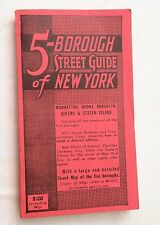 "1962, 5-Borough Street Guide of New York, Geographia, 35"" by 26"" MAP"