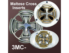 Indian, Drifter, Harley Air Filter Cover Emblems Maltese Cross Zambini Bros MFA