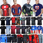 Mens Compression Gear Cycling Jersey Vests Bicycle Stretch Tops Under Base Layer