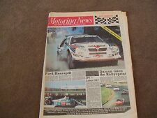 Motoring News 12 November 1986 RAC Rally Preview Markku Alen Mazda 323 Turbo
