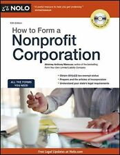 How to Form a Nonprofit Corporation by Anthony Mancuso CD-Rom Forms & Update NEW