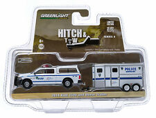 1:64 GreenLight *HITCH & TOW 4* 2014 Dodge Ram NYPD Police w/HORSE TRAILER *NIP*