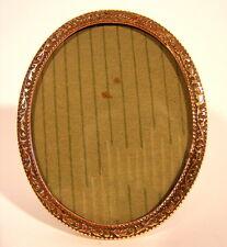 Rahmen Bilderrahmen Messing vergoldet Glas mit Öse  Aufsteller original um 1900
