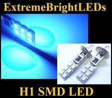 TWO Brilliant BLUE H1 12-SMD LED Driving or Fog Lights bulbs