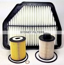 HOLDEN CAPTIVA 2.0L TURBO DIESEL CG AIR OIL FUEL FILTER KIT 2.0 2L 93745801 PACK