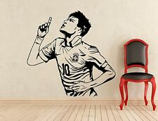 Neymar Wall Decal Football Player Barcelona Vinyl Sticker Decor Mural (424n)