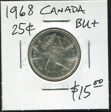 CANADA - FANTASTIC HISTORICAL QE II SILVER 25 CENTS, 1968