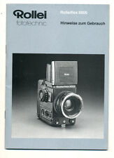 Rollei instruction booklet for Rolleiflex 6006 in german E478