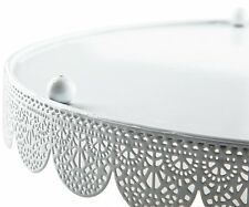 Cake Plate  Pastry Platter Reusable Cake Doilies Decorative Cake Plate White