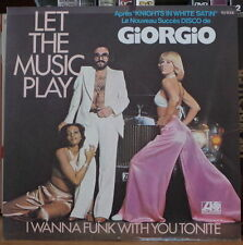 GIORGIO LET THE MUSIC PLAY CAR ROLLS ROYCE COVER FRENCH SP ATLANTIC 1977