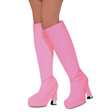 #GO GO BOOT TOPS FOUR COLOUR 80s PARTY FANCY DRESS LADIES COSTUME ACCESSORY