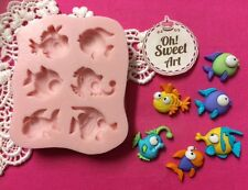 Tiny fish silicone mold fondant cake decorating decorating cupcake food soap FDA
