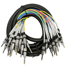 "Seismic Audio 16 CHANNEL TRS 1/4"" SNAKE CABLE -25 Feet Pro Audio Patch - Effects"