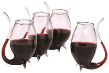 Wine Glasses Straw Set Porto Decanter Sippers Bar Liquor Hand Blown Gift Alcohol