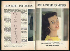 1962 Tv Guide Article ~ Ireland's Audrey Dalton ~ Irish Born Actress