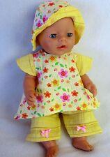 Puppenbekleidung für Baby Born 43 und Krümel ,3-Teilig  Set- Leicht anzuziehen