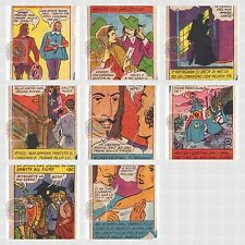 I TRE MOSCHETTIERI 50s Sada  Firenze italy lot 8 cards - lotto 8 figurine