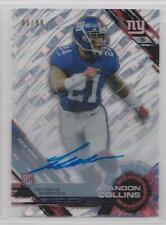 LANDON COLLINS 2015 TOPPS TEK TIDAL DIFFRACTOR ON-CARD AUTO ROOKIE /99 GIANTS