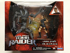 2001 PLAYMATES TOMB RAIDER ANGELINA JOLIE LARA CROFT VS SIMON FIGURE 2 PACK D49