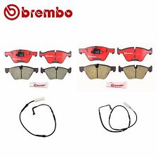 NEW BMW E90 325i 328i Front and Rear Disc Brake Pads with Sensors Brembo