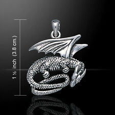 Slumbering Dragon .925 Sterling Silver Pendant by Peter Stone