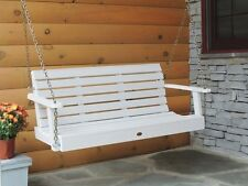 Highwood 4ft Weatherly porch swing (Eco-friendly Synthetic wood in white)- Swing