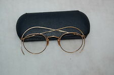 Antique Bausch & Lomb 1/10 12K Gold Filled Full Vu Round Eyeglasses