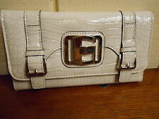 NWT GUESS GROSSETO CHALK CHECKBOOK WALLET 100% AUTHENTIC