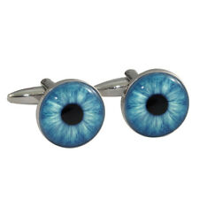 Beautiful Blue Eyes Iris Cufflinks great gift for optician BNIB